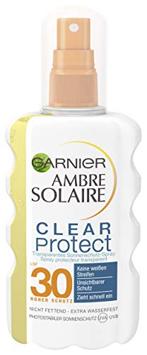 Garnier Ambre Solaire Clear Protect Sonnenschutz Spray LSF 30, Transparent, 1er Pack (1 x 200 ml)