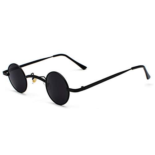 TYJYTM Retro Mini Sonnenbrille Runde Männer Metallrahmen Gold Schwarz Rot Kleine Runde Gerahmte Sonnenbrille Für Frauen Unisex Uv400