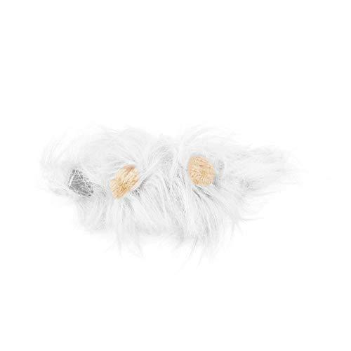 Jiobapiongxin Haustier Kostüm Löwe Mähne Perücke für Katze Halloween Weihnachtsfeier Dress Up mit ()