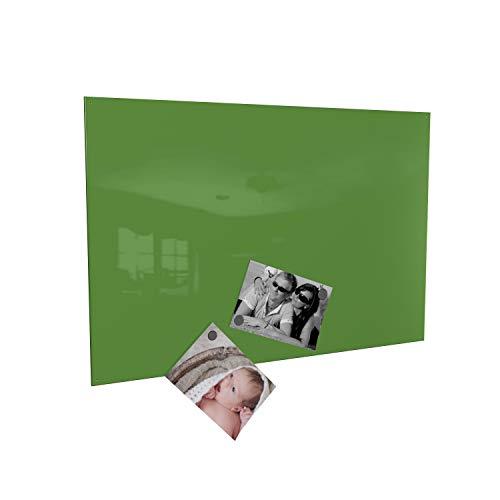 Colours-Manufaktur Magnettafel inkl. Magnete - in 4 Verschiedene Größen und 18 (grün, 50 x 80 cm)