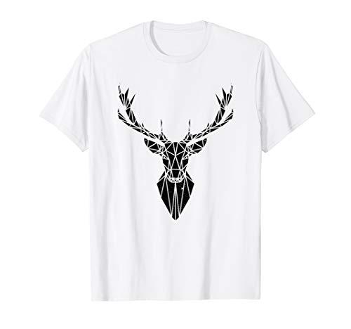 Hirsch T-Shirt Damen-origami