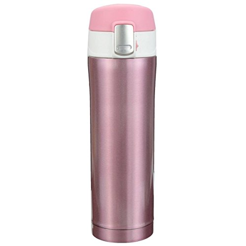 Price comparison product image Gearmax® 450ml Stainless Steel Vacuum Insulated Drink Bottle Travel Mug Cup (Pink)