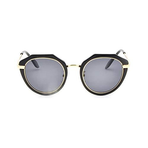 Douerye Vollbild Eltern-Kind-Modelle Sonnenbrille Polygonale Polarisierte Sonnenbrille Kinder-Sonnenbrille,Black