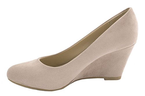 Keilabsatz Schuhe Pumps Wedges Khaki Keilpumps mit Bequeme Damen Elara BqvXanPx