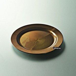 12 assiettes mariage jetables plastique couleur marron nacré 19cm - Adiserve -