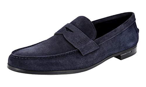 Prada Herren 2DA119 054 F0008 Leder-Business-Schuhe, Blau (blau), 45.5 EU - Schuhe Kleid Prada Männer