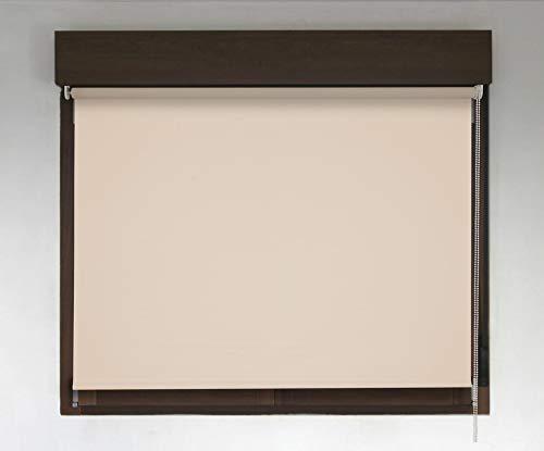 Estor TÉRMICO Opaco Premium (Desde 40 hasta 300cm de Ancho, no Permite Paso de la luz y sin Visibilidad Exterior). Color Beige. Medida 150cm x 240cm para Ventanas y Puertas