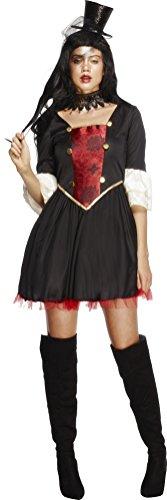 Kostüm Halloween Tragen Stiefel (Fever, Damen Vampir Prinzessin Kostüm, Kleid mit angebrachtem Kragen, Größe: M,)