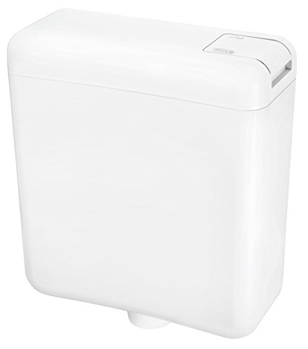 Cornat Spülkasten FARO, weiß/Start-/Stopp-Spülung/Toilettenspülung/Aufputzspülkasten/Toilette/Badezimmer/SPK1000