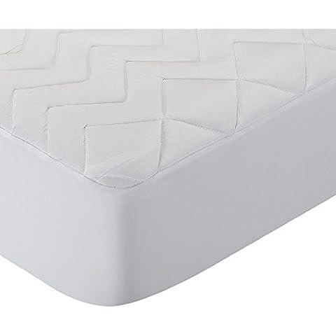 Pikolin Home PA32 - Protector de colchón acolchado lyocell, híper-transpirable e impermeable, 160 x 200 cm, cama 160