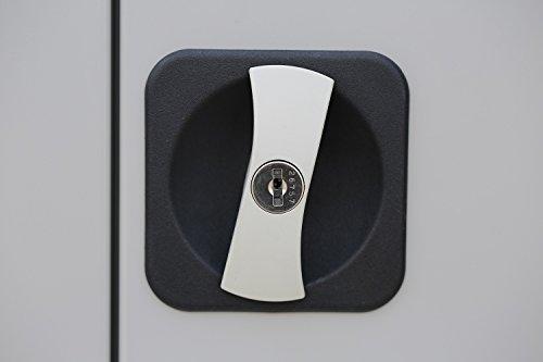 Flügeltürenschrank Schrank Stahl Stahlblech Lagerschrank Aktenschrank Büroschrank Werkzeugschrank 4 Fachböden/4,5 OH/Maße: 1800x800x380mm 530330 kompl. montiert und verschweißt - 6
