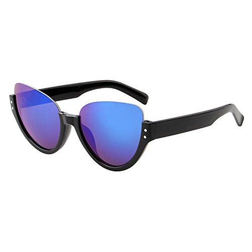 LianSan Einzigartige Aviator Sonnenbrille, halber Rahmen UV-Schutz Brillen ls4703blau