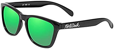 Northweek Regular Shine Black - Green Polarized - Gafas de sol unisex, negro