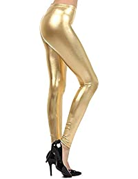 93409c5bf1c999 Fashion 24/7 Womens Ladies Metallic Shiny Glanz Wet Look Leggings S/M-