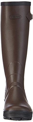 Viking Sportii, Bottes en caoutchouc de hauteur moyenne, doublure froide mixte adulte Marron - Braun (8)