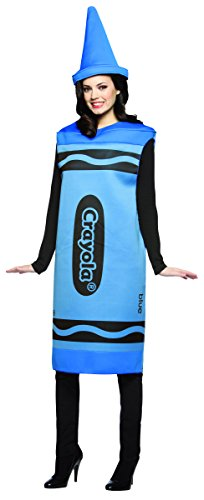 Rasta Imposta Blau Crayola Crayon Damen Erwachsene Kostüm, Blau, Small/Medium