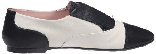 Pretty Ballerinas 40732, Ballerines femme Noir/blanc (Gueta Negro / Coton Sand)