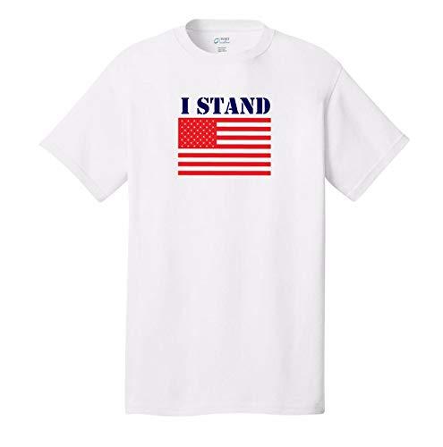 Camiseta de fútbol con Texto I Stand for The American Flag Kapernick Sucks USA Patriot