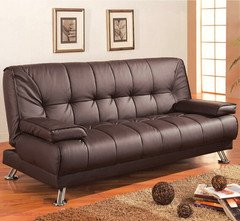 brown-vinyl-sofa-bed-by-coaster