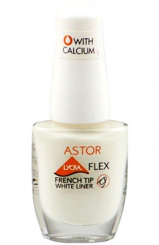 Astor Lycra Flex Tip White Liner Nagellack 900 French White 8ml (E12) -