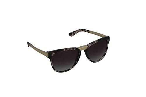Dolce & Gabbana Damen DG4257 Sonnenbrille, Mehrfarbig (Gold, Braun/Grau verlaufend 28888G), Medium (Herstellergröße: 54)