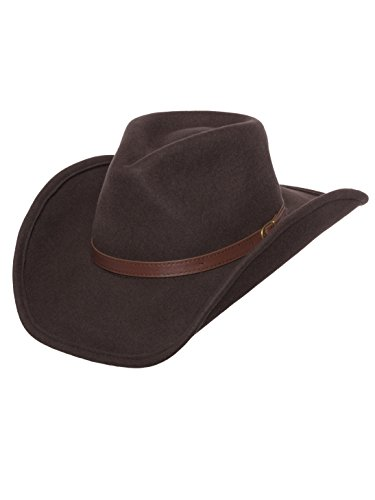 Silver Canyon Boot and Clothing Company Outback Wolle Cowboyhut Dakota formbar West Filz für Herren Mittel braun