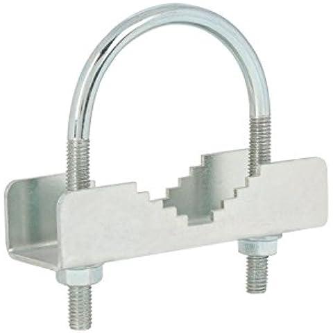 Diesl.com - Abrazadera mástil AP70 | Soporte maximo 70mm diametro | Abrazadera de acero | Resistente a factores externos.