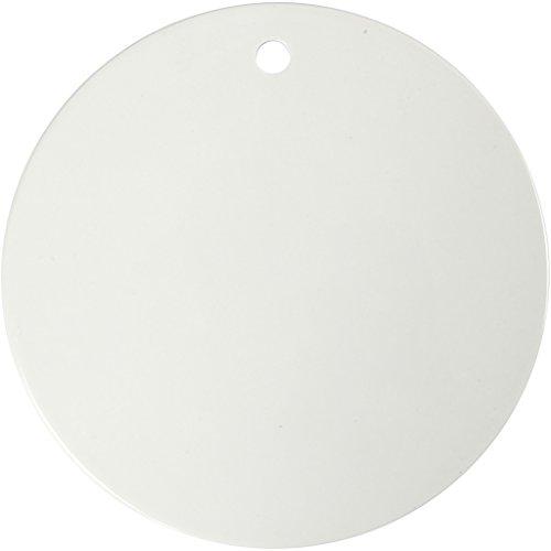 Keramik-Platte, D: 20 cm, Stärke: 0,5 cm, Weiß, 1Stck