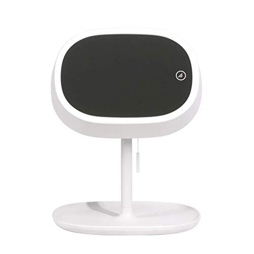 Jokeagliey Make-up Spiegeltabelle Lampenfläche Desktop, LED Aufladen Smart Vanity Mirror, Fill Light Hd Mit Licht zu beleuchten Ihre Schönheit,White