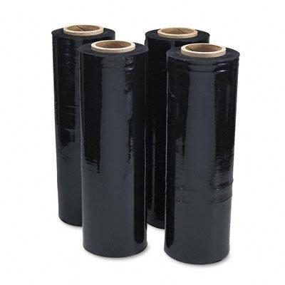 Universal 62120 Black Stretch Film 18W x 1 500 Rouleau 20 Micron (80 Gauge) 4 Rolls / carton