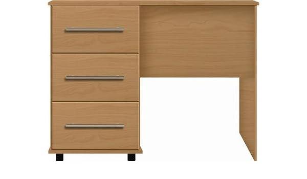 Fabulous Beech Single Pedestal Dressing Table Ready Assembled Sienna Download Free Architecture Designs Terchretrmadebymaigaardcom