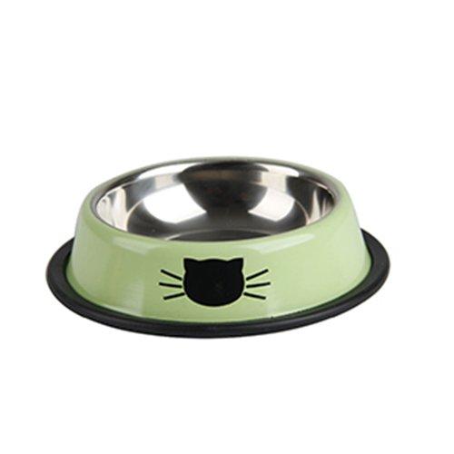 Speedy Pet Cane in acciaio inox Pet Ciotole cucciolo alimentatore non di slittamento piatto per i cani Cat Piccoli Animali Blu M