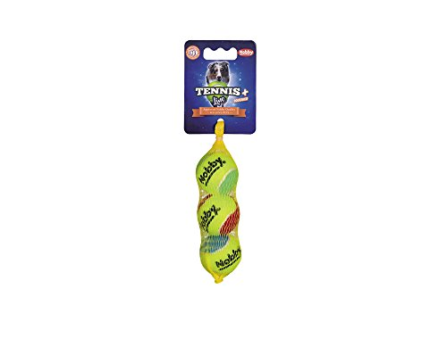 Nobby Tennisball mit Squeaker sortiert XS 4,0 cm; 3er - Hundespielzeug Tennisball