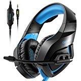 ONIKUMA PS4Gaming Headset través de oído Stereo Gaming Auriculares con Noise Cancelling Mic para Nintendo Switch PS4Xbox One PC Laptop Smartphones