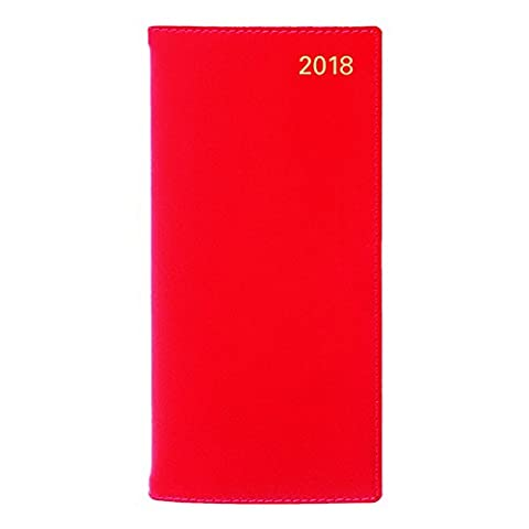 Letts 2018 Sterling - Weekly/Monthly Planner, Horizontal, Red, 6.5 x 3.125 inches (C33SRD-18)