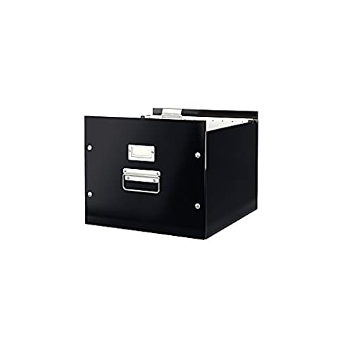 Leitz Suspension File Box, A4, Click and Store Range 60460095 - Black