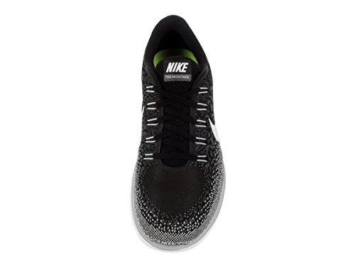 Nike Free Rn Distance, Chaussures de Running Entrainement Homme Black/White-Dark Grey-Wolf Grey