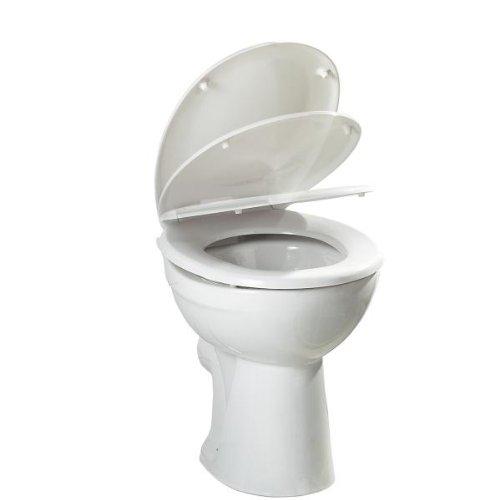 Top Star WC-Sitz mit einer Duroplast Absenkautomatik, weißer Kunsstoff Toilettensitz ca. 45 x 37 x 3,5 cm
