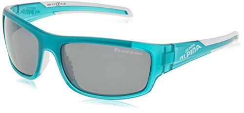 ALPINA Sonnenbrille Amition Testido P Outdoorsport-Brille, Petrol Matt-White, One Size