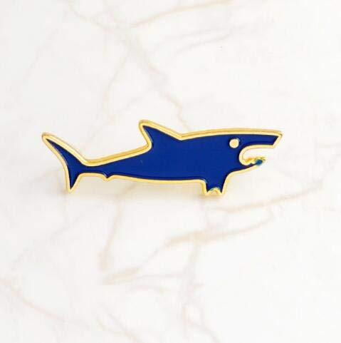 WYKDOY Brosche Marine Life Pin Tier Fisch Pin Denim Rucksack Zubehör niedlichen Schmuck Kinder Geschenke einzigartige Brosche ist sehr TemperamentHai