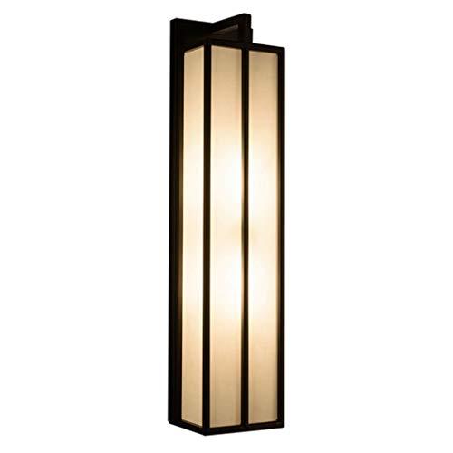 Retro Wandleuchte, Schmiedeeisen Lampe Stoff Lampenschirm Chinesische Moderne Für Wohnzimmer Schlafzimmer Nacht Gang Hotel TV Hintergrund Wand 1-Licht E27 (größe : 60 * 15) -