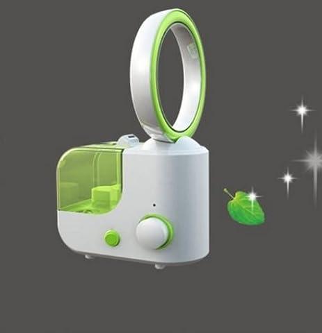 Yiwa Luftbefeuchter Diffusor Luftreiniger 2 in 1 mit Bladeless Fan Mini Turbine Fan Ultraschall Desktop Fan Luftbefeuchter Perfekt für die Home und Business Klimatisierte Zimmer