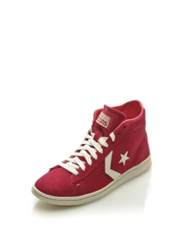 Converse Pro Leather Lp Mid Suede Zip T, Baskets Basses Femme Rose (Fushia)