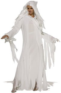 Ghostly Spirit Fancy Dress Costume (adult size 12-14)