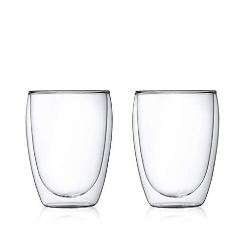 Gekühlte Arbeitsplatte (Bodum 4559-10  pavina 2-teiliges Gläser-Set (Doppelwandig, Isoliert, Mundgeblasen, 0,35 liters) transparent)