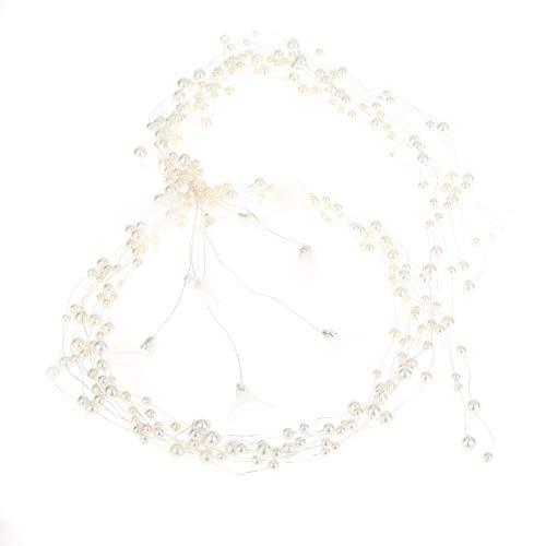 jgashf Haardraht Accessoires Perle Haarspangen braut perlen stirnband Strass Hochzeit Haarkamm Brautjungfer Haarschmuck Tiara Diadem Kopfschmuck Hair Clips(Gold)