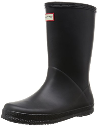 Hunter Kids First Classic Black Rubber Wellingtons Boots Black