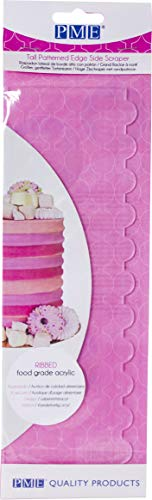 PME PS63 Tall Patterned Edge Side Scraper for Cake Decorating-Ribbed Hoge Zijschraper met Randpatroon - Gerippt, Lebenmittelacryl, durchsichtig Side-scraper