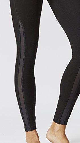 Femme Gainant Minceur Contrôle du ventre avec figurine raffermissant standard Taille Détails en maille Panneau pour femme Noir Noir