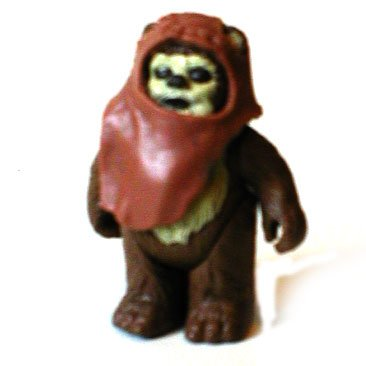 Original Vintage 1980's Star Wars Wicket the Ewok Figur [Rare, nicht verpackt]